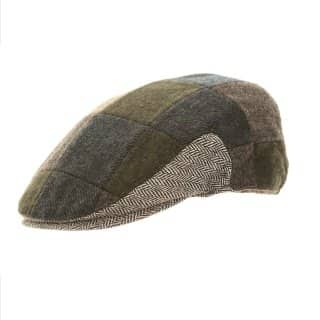 Wholesale blue mix patchwork flat cap