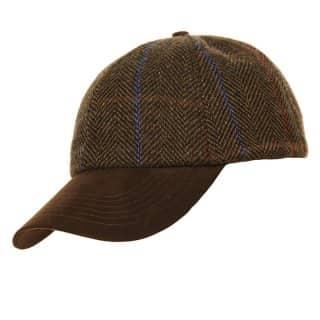 Wholesale unisex brown tweed baseball cap