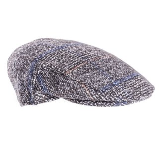 Mens flat cap in grey tweed from hat supplier SSP Hats