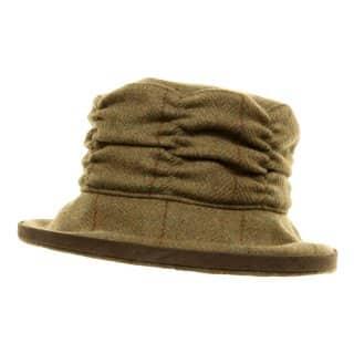 Bulk womens green tweed hat
