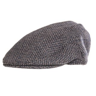 Bulk Mens blue flat cap developed from wool patterning