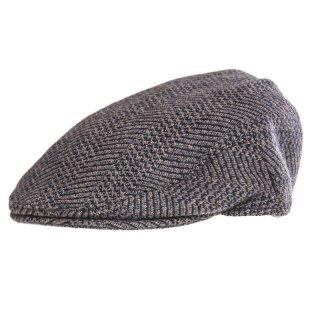 Bulk Mens blue flat cap developed from wool patterning