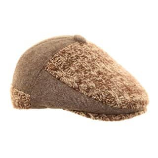 AK26 - MENS STRUCTURED 2-TONE FLAT CAP
