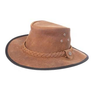 Wholesale light brown Australian style hat in size small