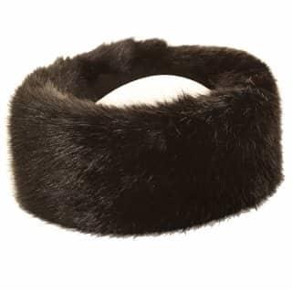 Wholesale ladies quality black faux fur headband