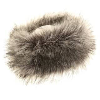 Wholesale ladies quality long grey faux fur headband