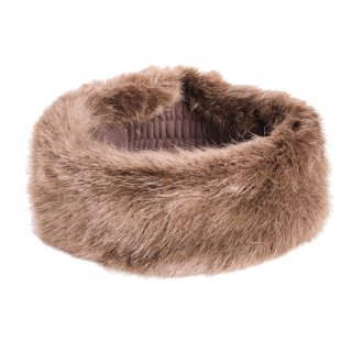 Wholesale ladies faux fur headband in colour brown