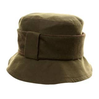Wholesale two tone wax hat with wide band in green colours