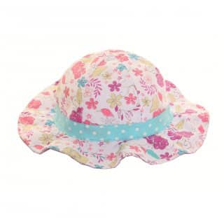 Wholesale pink assorted floral sun hats