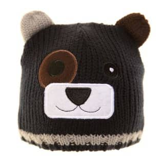 Wholesale blue babies knitted bear ski hat