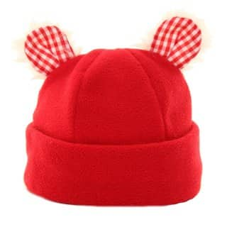 Wholesale babies soft fleece hats with novelty ears in red