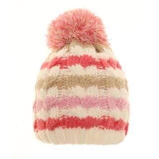 Wholesale babies stripey bobble hat