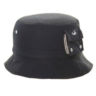 Wholesale baby boys cotton bucket hat in black