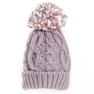 Wholesale grey babies unisex bobble hat