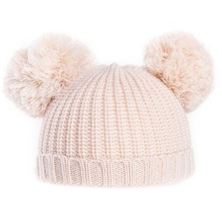 Wholesale babies unisex double bobble hat in yellow