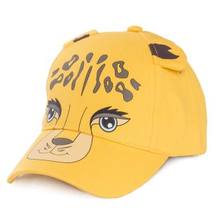 Wholesale babies baseball cap in yellow with leopard animal design developed from cotton