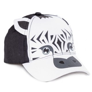 Wholesale babies baseball cap in black and white with zebra animal design developed from cotton