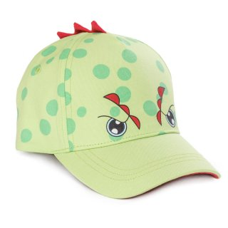 Wholesale babies green dino baseball cap developed from cotton
