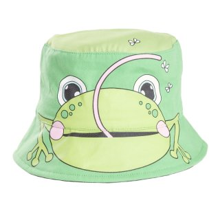 Wholesale babies novelty frog bush hat developed from cotton