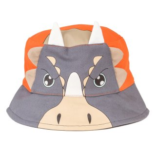 Wholesale babies grey triceratops bush hat developed from cotton