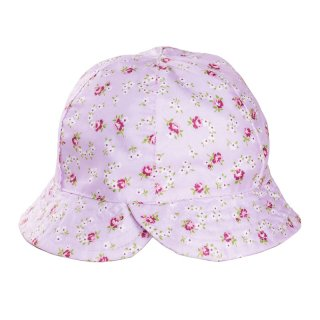Wholesale pink babies ditsy floral bush hat developed from polyester