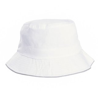 Wholesale plain babies bush hat in white developed from cotton