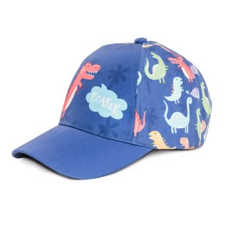 Wholesale babies dino print baseball cap in blue developed from cotton