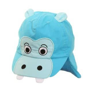 B51 - INFANTS' UNISEX BLUE HIPPO LEGIONNAIRE CAP