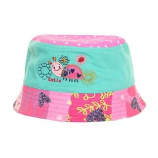 Wholesale pink girls animal applique bucket hat