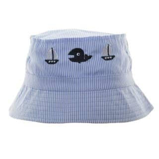 Wholesales boys striped bush hat with yacht embroidery