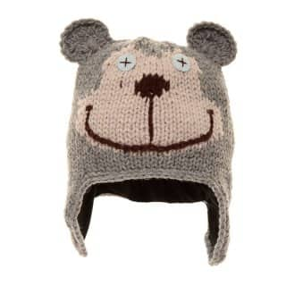 BABIES' KNITTED BEAR HAT