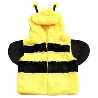 Wholesale childrens furry bee gilet