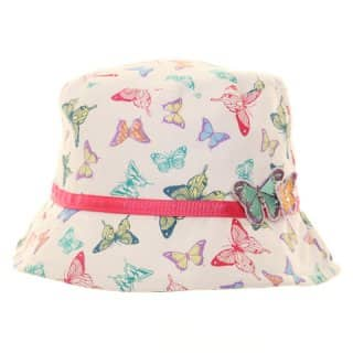 Wholesale bush hat for girls with butterfly effect