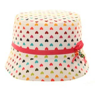 C153 - GIRLS HEARTS PRINT BUSH HAT