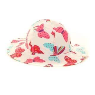 C156 - GIRLS WIDE BRIM BUTTERFLY SUN HAT