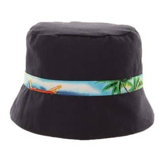 Wholesale boys reversible surf print in black