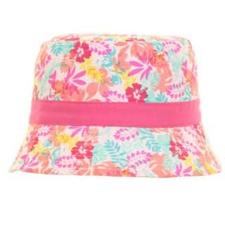 Wholesale girls bright assorted floral design bush hat