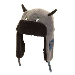 Wholesale boys novelty fleece trapper hats in grey