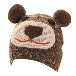 Wholesale childs bear ski hat developed from acrylic