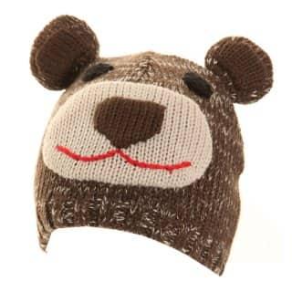 C340 - CHILD'S OWL & BEAR SKI HAT