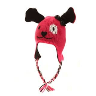 C344 - GIRL'S WHOLESALE DOG/PANDA PERU HAT