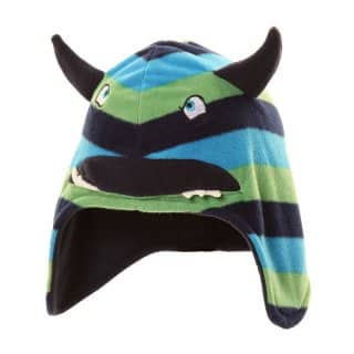C412 - CHILD'S STRIPEY MONSTER HAT