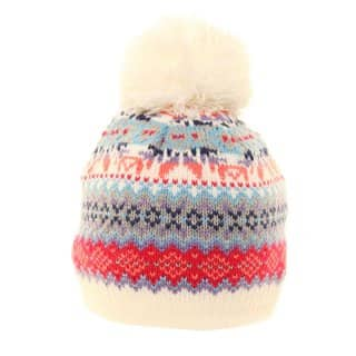 C420 - GIRLS DOUBLE LAYER KNITTED BOBBLE HAT