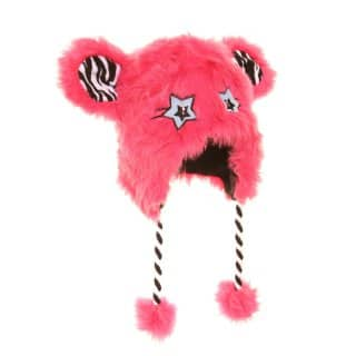 Bulk pink girls fur novelty hats