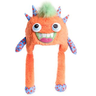 Wholesale jiglz branded kids unisex orange monster novelty hat