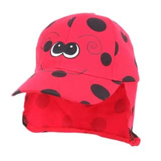 Wholesale childrens animal legionnaire cap with ladybird design
