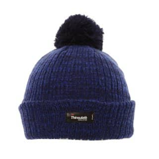 Wholesale Thinsulate branded blue chunky knit hat for boys