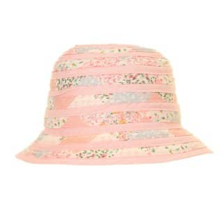 Wholesale light pink short brim hat with swirls developed from cotton