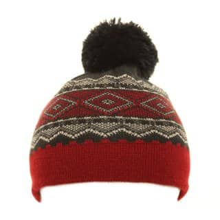 Wholesale bobble hat for boys featuring bright patterning