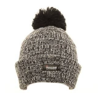 Bulk thinsulate bobble hat for girls with grey marl effect